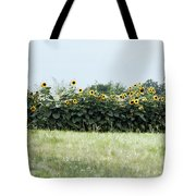 Hay Bales And Sunflowers Tote Bag