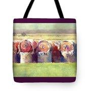 Hay Bales Tote Bag by Kris Parins