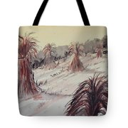 Hay Days Of Autumn Tote Bag