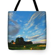 Hay Rolls On The Farm Series One In Westmoreland County Pennsylvania Tote Bag