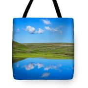 Hayden Valley Cloud Reflection Yellowstone National Park Tote Bag