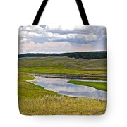 Hayden Valley In Yellowstone National Park-wyoming Tote Bag