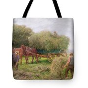 Haymaking Tote Bag by Arthur Hopkins