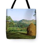 Haystack At The Hillside, Transylvania Tote Bag