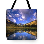 Haystack Mountain Reflected In Beaver Pond Tote Bag