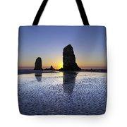 Haystack Needles Rocks At Cannon Beach Tote Bag