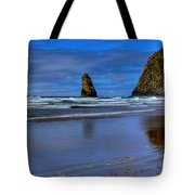 Haystack Rock And The Needles II Tote Bag