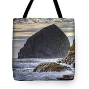 Haystack Rock At Cape Kiwanda Tote Bag