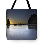 Haystack Rocks And The Needles At Cannon Beach Tote Bag