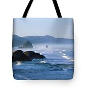 Haystack Rocks In Cannon Beach Tote Bag