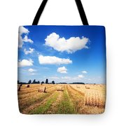 Haystacks In The Field Tote Bag
