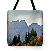 Haze And The Dolomites Tote Bag