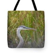 Hazy Day Heron Tote Bag