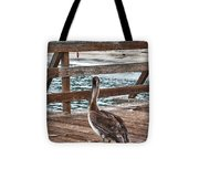hd 392 hdr - Pelican On The Pier Tote Bag