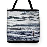 Hdr Black White Color Effect Fisherman Beach Ocean Sea Seascape Landscape Photography Image Photo  Tote Bag