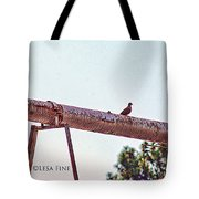 Hdr Dove On A Pipe Tote Bag