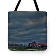 Hdr Print Red Tattered Barn Tote Bag