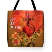 He Is Risen Greeting Card Tote Bag