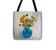 He Loves Me Bouquet Tote Bag