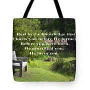 He Sanctified You Tote Bag
