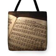 He Set Me Free - Hymnal Song Tote Bag