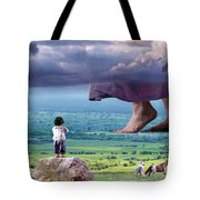 He Still Walks Here Tote Bag
