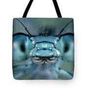 Head And Compound Eyes Of Damselfly Tote Bag