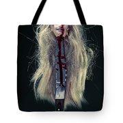 Head And Knife Tote Bag