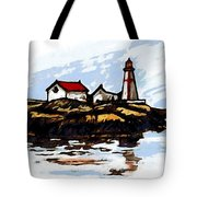 Head Harbour Lighthouse - Field Sketch Tote Bag