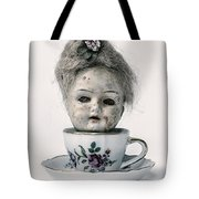 Head In Cup Tote Bag