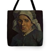 Head Of A Peasant Woman With White Cap Tote Bag