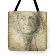 Head Of A Woman Tote Bag by Michelangelo Buonarroti