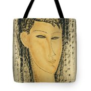 Head Of A Young Women Tote Bag