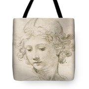 Head Of An Angel Tote Bag