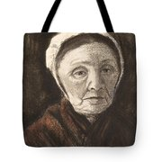 Head Of An Old Woman In A Scheveninger Tote Bag