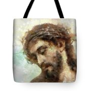 The Head Of Christ Tote Bag