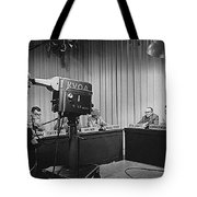 Head Of Production Lowell Cable Cameraman Panel  Kvoa Tv Circa 1955 Color Added 2013 Tote Bag