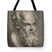 Head Of Socrates Tote Bag by Anonymous