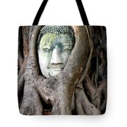 Head Of The Sandstone Buddha Tote Bag