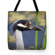 head shot - Yellow crowned Night Heron Tote Bag