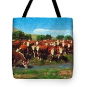 Heading For Water Tote Bag