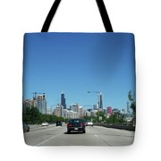 Heading North On Lake Shore Drive In Chicago Tote Bag