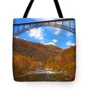 Heading Toward The New River Rapids Tote Bag