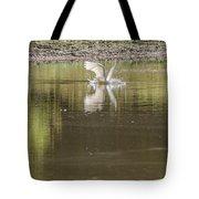 Headless Snowy Egret Of Rum Creek Tote Bag