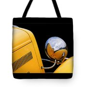Headlight Reflections In A 32 Ford Deuce Coupe Tote Bag