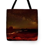 Headlights And Buttes In Monument Tote Bag