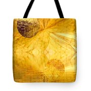Healing In Golden World Tote Bag