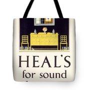 Heals Sound Furniture Advertisement Tote Bag