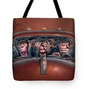 Hear No Evil See No Evil Speak No Evil Tote Bag by Mark Fredrickson