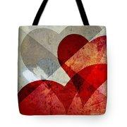 Hearts 8 Square Tote Bag